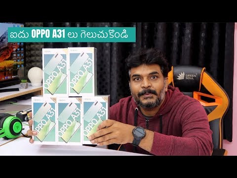 OPPO A31 Unboxing & 5 X Giveaway ll in Telugu ll