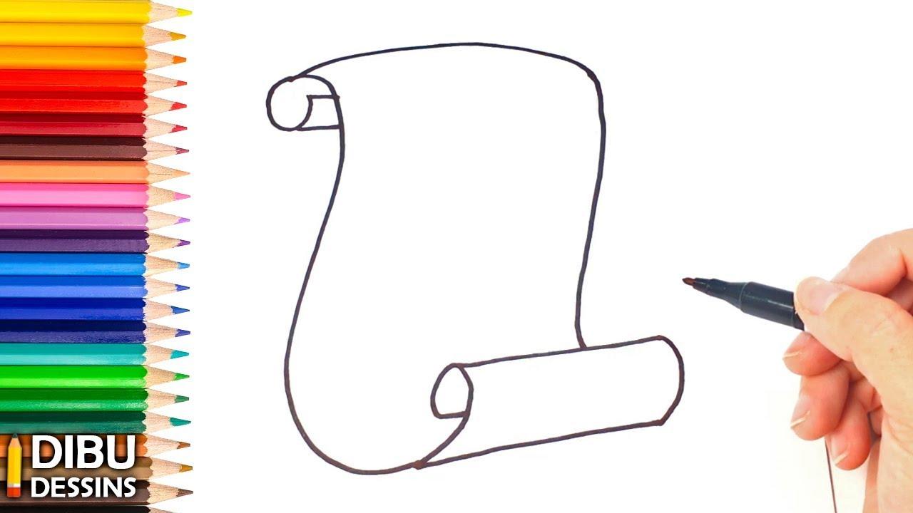 Comment dessiner un parchemin dessin de parchemin youtube - Comment dessiner un marteau ...