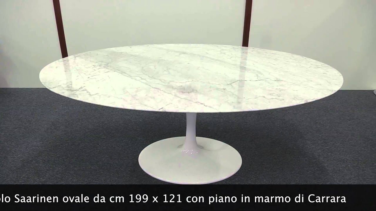 Tavolo Saarinen ovale - YouTube