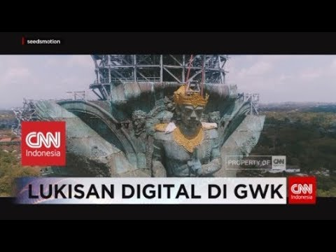 Lukisan Digital di Atas Megahnya Patung Garuda Wisnu Kencana