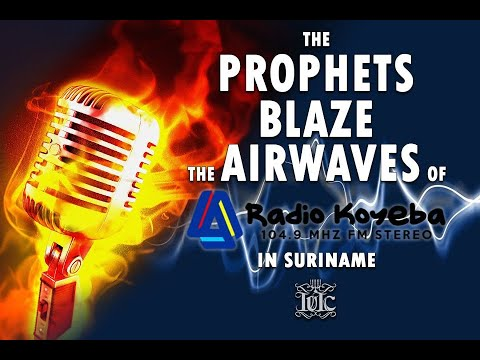 The Israelites: THE PROPHETS BLAZE THE AIRWAVES ON RADIO KOYEBA IN SURINAME