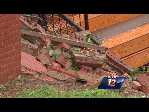 Courtney Elementary School gymnasium destroyed after Wednesday's severe weather