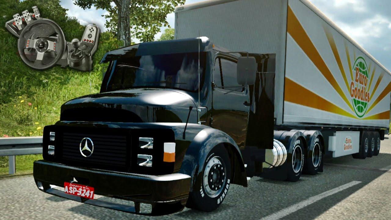 euro truck simulator 2 mercedes benz 1113 ronco louco. Black Bedroom Furniture Sets. Home Design Ideas
