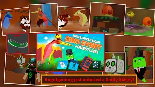 New Dinosaur Event World + Completing Bo's Questline + Godly Skeley Pet! (Roblox Ghost Simulator)