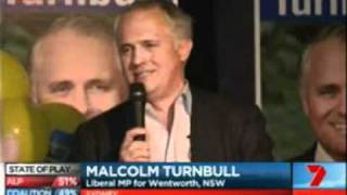 Malcolm Turnbull Election Night Wentworth
