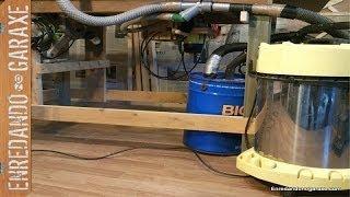 Sistema De Aspiración Para Mesa Combinada Casera. Multipurpose Dust Collection System