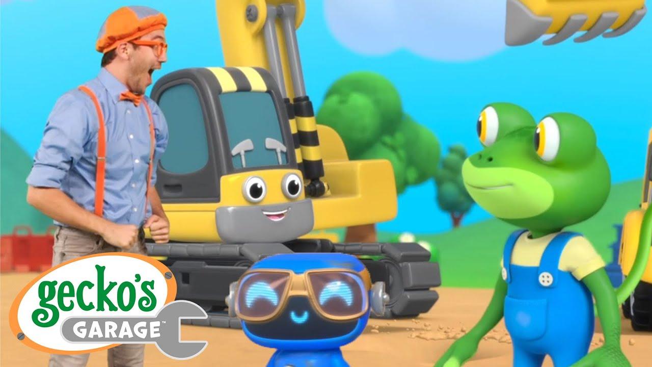 Digger Song ft. @Blippi - Educational Videos for Kids Gecko's Garage Sing & Dance Trucks For Kids