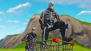 CARRYING SKULL TROOPER SKIN IN SHOPPING CART (Fortnite) | Whos Chaos