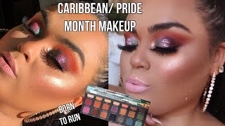 URBAN DECAY BORN TO RUN COLLECTION, PRIDE, CARRIBEAN MAKEUP TUTORIAL