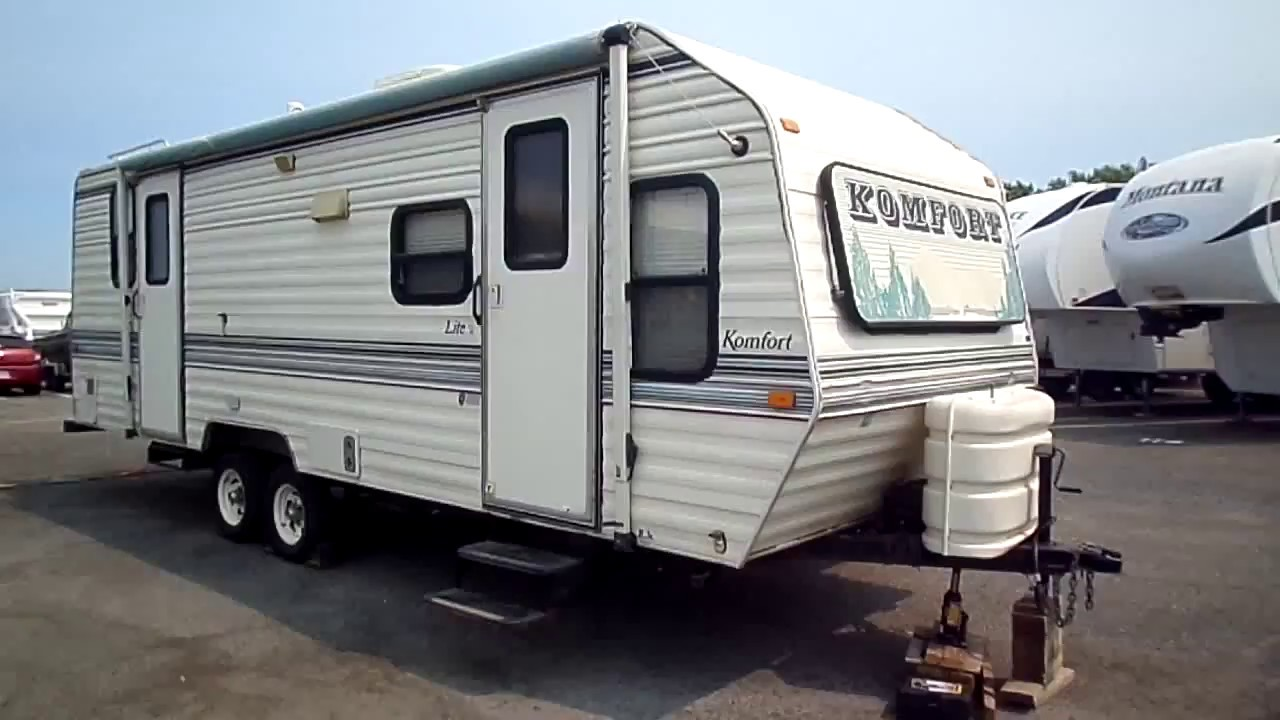 1994 Komfort Lite 25 ft Travel Trailer - YouTube