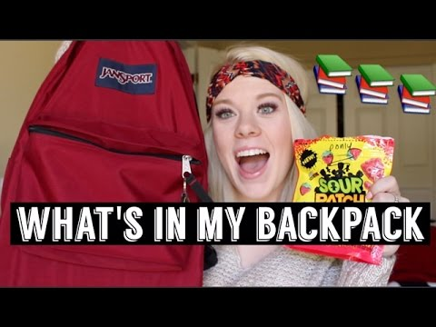 What's In My Backpack || Senior Year of High School ♡