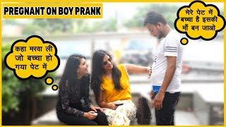 Mai Pregnent Ho Gya Prank On Cute Girls | Funky Joker