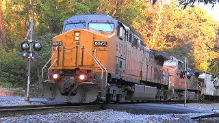 CSX K683 Empty Ethanol Tank Train With UP Power
