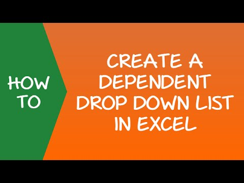 How to Create a Dependent Drop Down List in Excel
