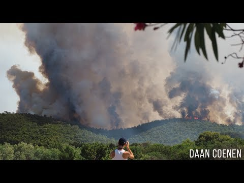 BIG FOREST FIRE CÔTE D'AZUR FRANCE HD