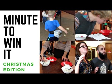Minute To Win It Christmas Edition | DIY Dollar Tree Christmas Games