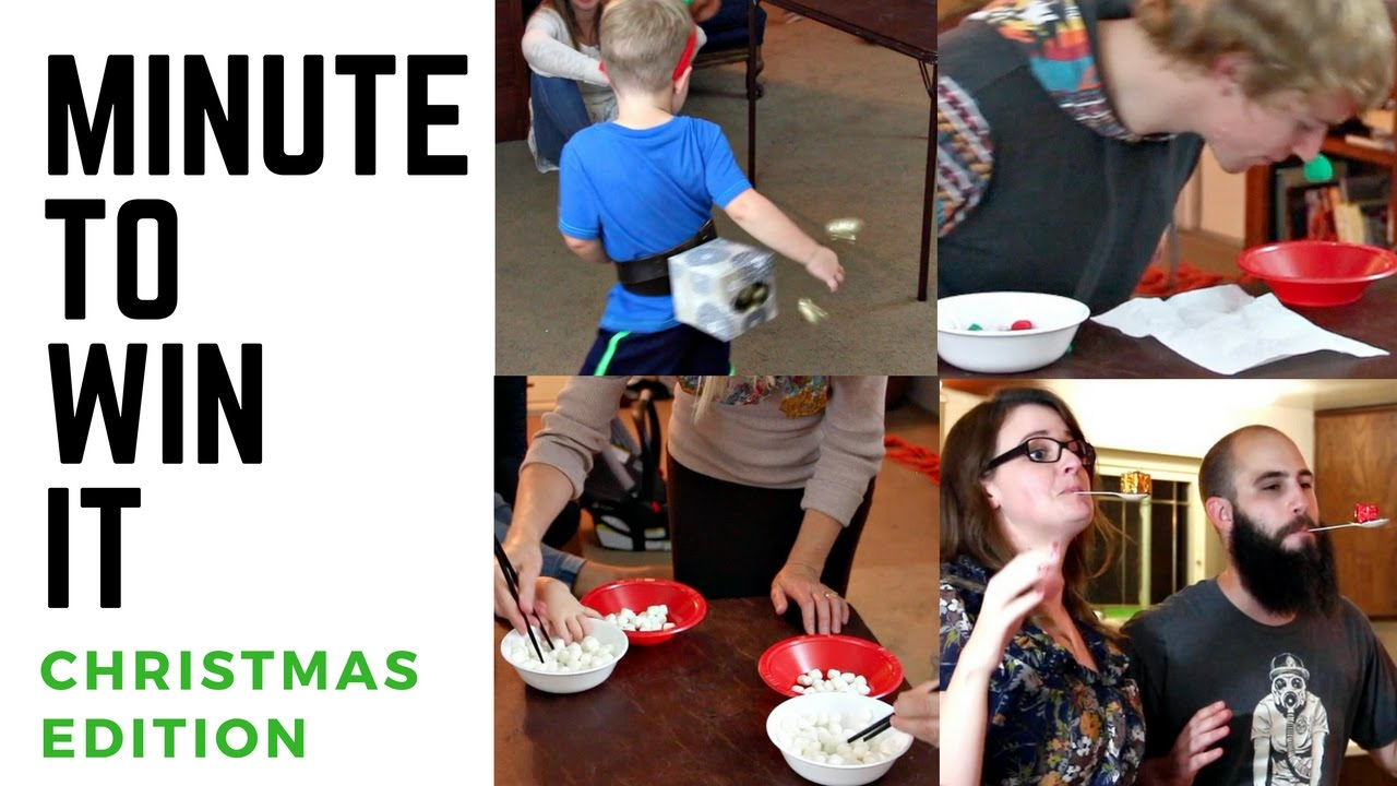 Minute To Win It Christmas Edition Diy Dollar Tree Christmas Games Youtube