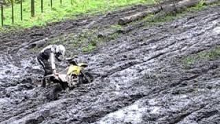 Dirt bikes in mud bog