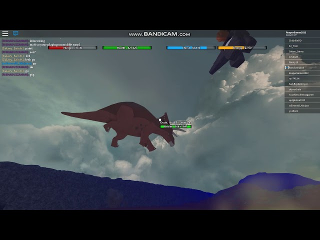 dinosaur simulator roblox exploiter name is painty15 and galaxy_saints