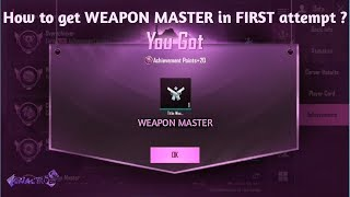 How To Achieve WEAPON MASTER | PUBG MOBILE | Easy TIPS & TRICKS |