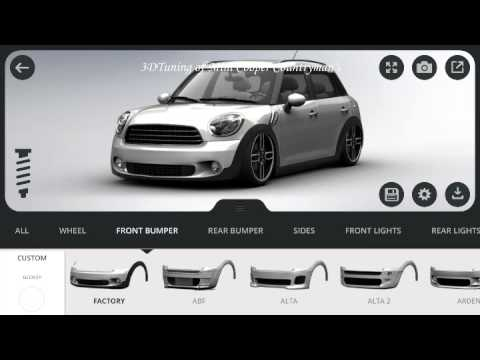 mini countryman 3d tuning mobile app youtube. Black Bedroom Furniture Sets. Home Design Ideas