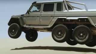 Mira en acción el Mercedes-Benz G 63 AMG 6x6, el vehículo de seis ruedas