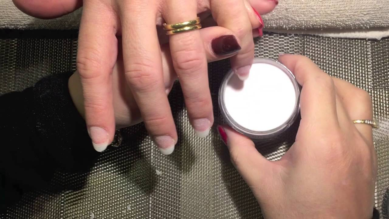 SNS Dipping French Tip Step by step - YouTube