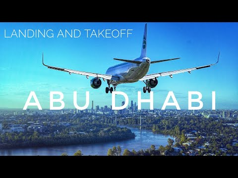 Free Travel || Full Landing and Takeoff view in Abu Dhabi Airport #TRAVEL