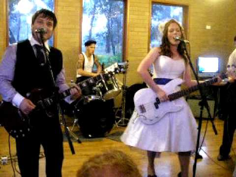 Love Gun Kiss cover at our Rock Wedding by Bride & Groom