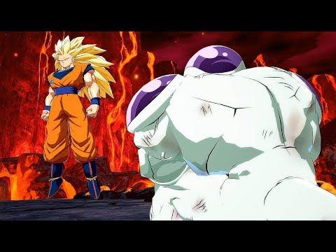 Dragon Ball FighterZ - Goku SS3 & Full Power Frieza Dramatic Finish [PC Mod] @ 1080p (60ᶠᵖˢ) HD ✔
