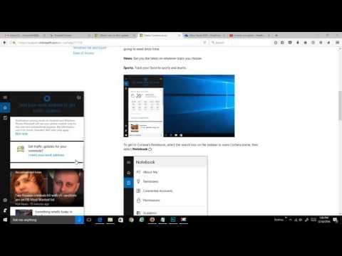 Windows 10 Cortana Music Identifier, Weather, and more