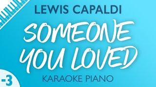 Lewis Capaldi - Someone You Loved (Karaoke Piano) Lower Key