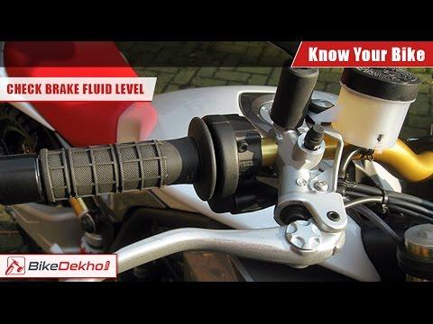 how to check brake fluid level in your bike bikedekho