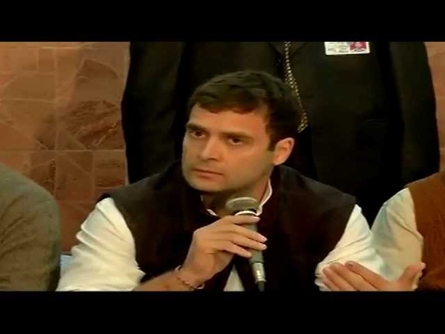 Rahul Gandhi addressing a Press Conference in Muzaffarnagar December 23, 2013 Travel Video