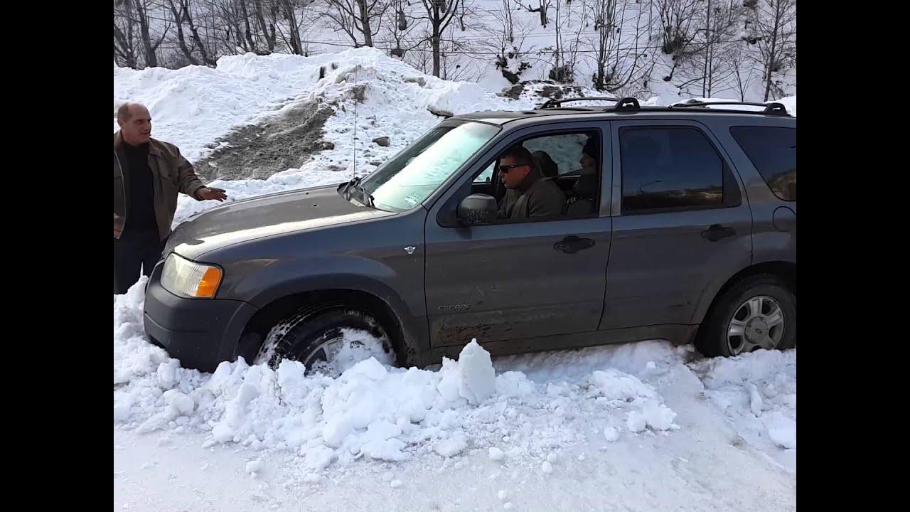 ford escape 3 0 tovlshi snow off road youtube. Black Bedroom Furniture Sets. Home Design Ideas
