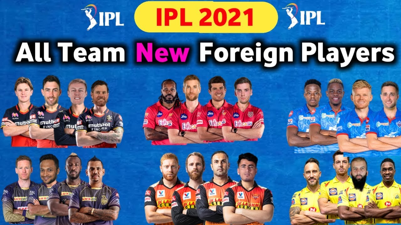 Download ipl 2021 | All Team Foreign Players List | RCB,CSK,RR,DC,KKR,SRH,MI New overseas player ipl 2021
