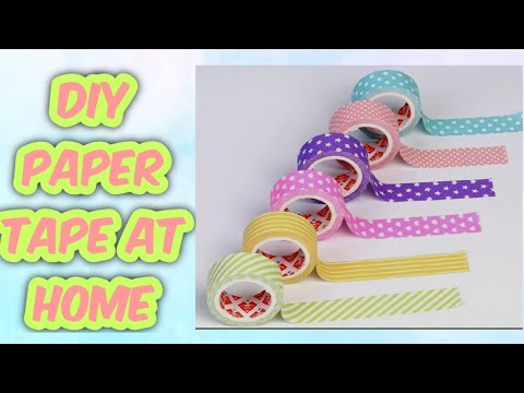 How To Make Paper Tape At Home/diy Paper Tape At Home/Homemade Paper Tape/Craft And Slime Hub