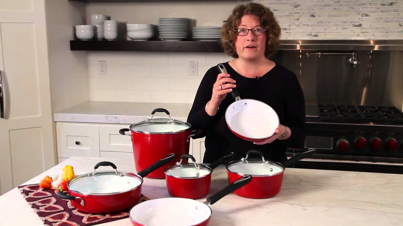 Cuisinart Elements Non Stick Red 10 Piece Set 59 10r Demo Video Youtube
