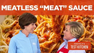 """How to Make Our Super Savory Meatless """"Meat"""" Sauce"""