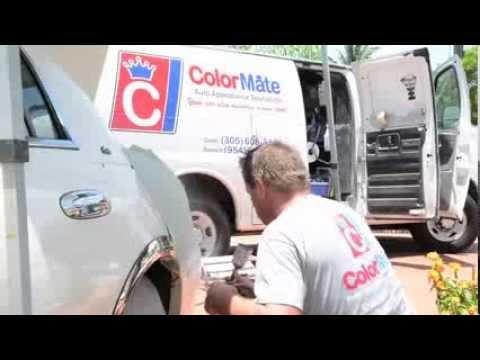 ColorMate Video Mobile Paint Repair, Bumper, Leather, and Rim Repair. Miami, Broward and Palm  Beach