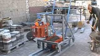 Concrete Block Making Machine Blox-2ts - Diy (do It Yourself) - Homemade From Drawings.