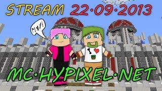Стрим по Minecraft на сервере mc.hypixel.net [22.09.2013]
