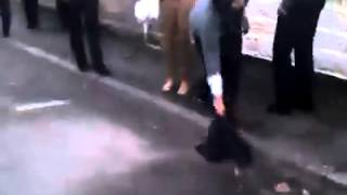 Hejab pulling and hair pulling in a catfight