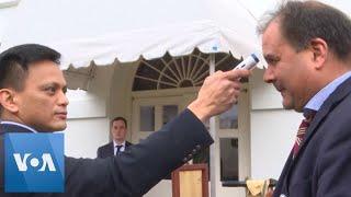 White House Media Get Temperature Check Ahead of Coronavirus Briefing