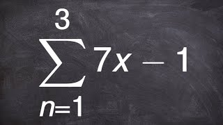 Finding the sum or an arithmetic series using summation notation
