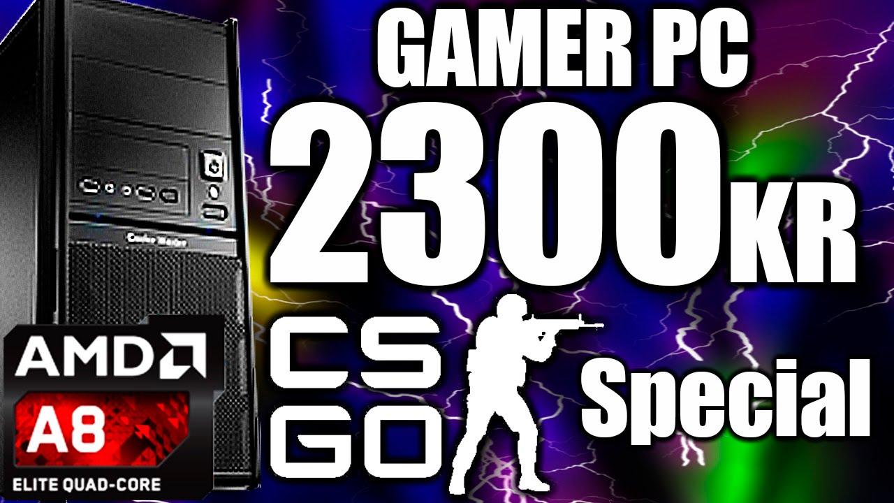 Byg En Billig Gamer Pc Til 2300kr Perfekt Til Csgo Youtube