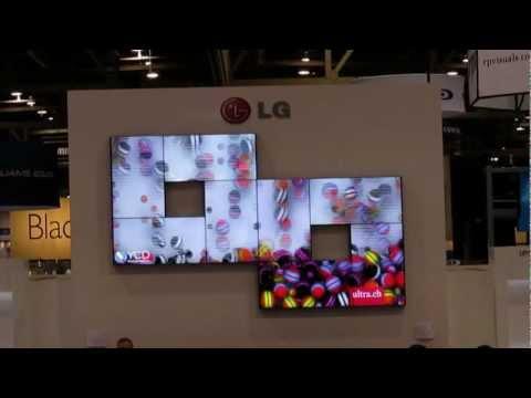 קירות וידאו של חברת YCD בתערוכת InfoComm