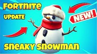 Fortnite update *New* Sneaky Snowman
