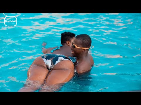 Kumawood Actress Safia Haroun Teaches Zionfelix How To Swim
