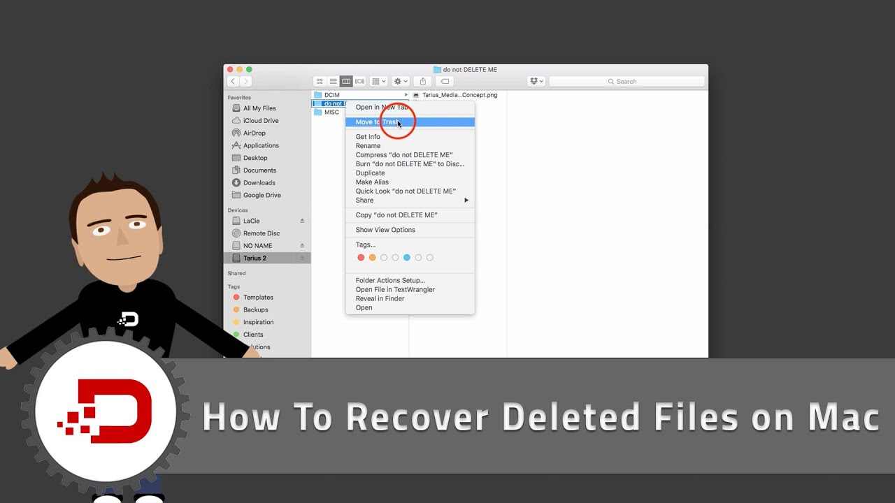 How To Recover Deleted Files On Mac  Youtube